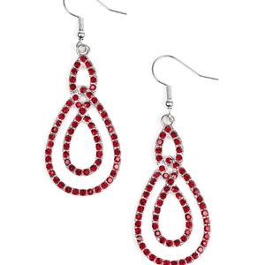 Sassy Sophistication Red Paparazzi Earrings